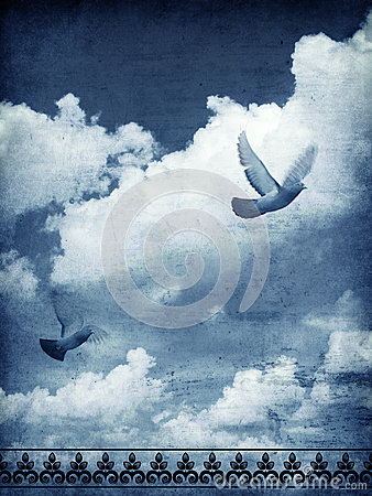 Free Sky And Doves Royalty Free Stock Images - 28019469