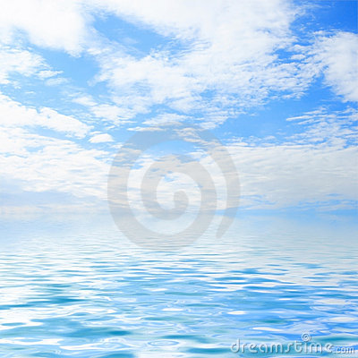 Free Sky And Water Stock Image - 3306631
