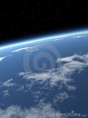 Free Sky Background / Blue Earth Royalty Free Stock Photography - 3250767