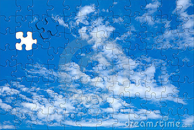 Sky background puzzle