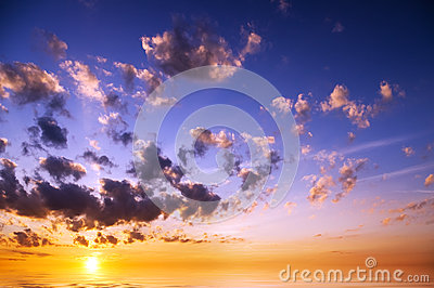 Sky background on sunrise