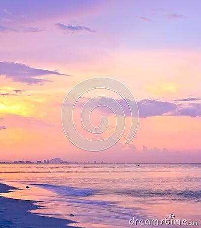 Sky beach sunset