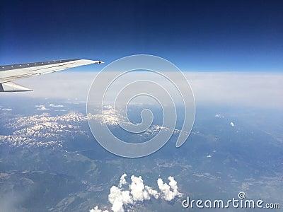 Sky bird cloud moder