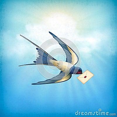 Sky Bird Letter Mail