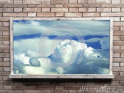 Sky into blackboard