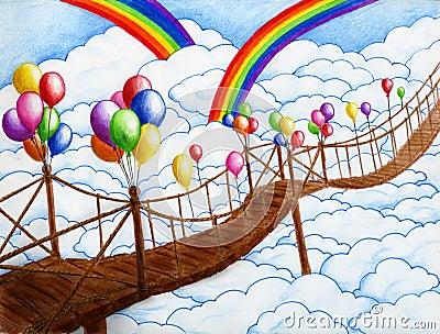 Sky bridge with balloons 2