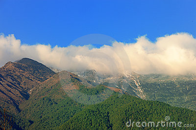 Sky cloud and mountain