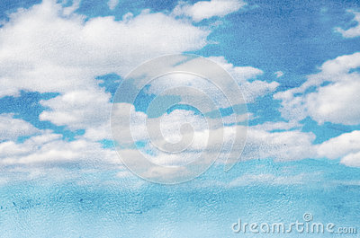 Sky and clouds watercolor background