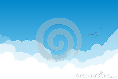 Sky with clouds Vector Illustration