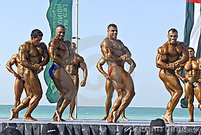 SKY DIVE DUBAI Bodybuilding Championship 3 Editorial Stock Photo