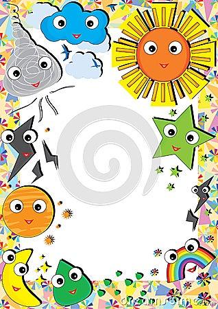 Free Sky Elements Frame_eps Stock Image - 27543771