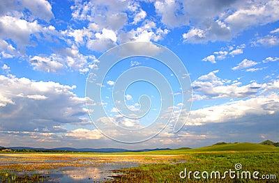 Sky on the inner mongolian prairie