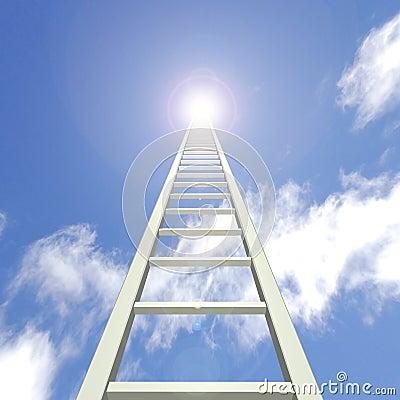 Free Sky Ladder Royalty Free Stock Photo - 14440175