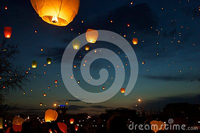 Sky lanterns fest