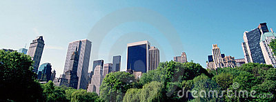 Sky line from Central Park