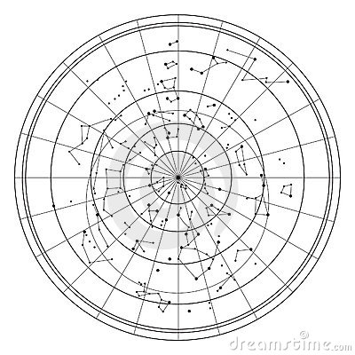 constellations in sky. SKY MAP WITH STARS AND