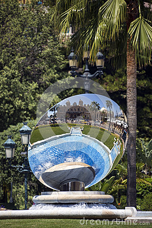 Sky Mirror - Monte Carlo Casino - Monaco Editorial Photography