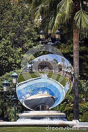 Sky Mirror - Monte Carlo Casino - Monaco Editorial Photography