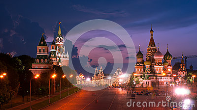 The sky of night Moscow