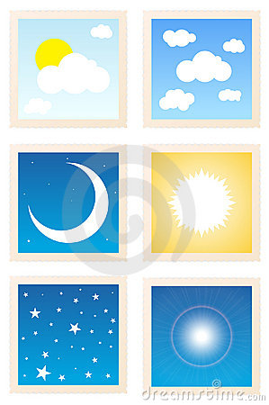 Sky Object Stamp Icons
