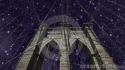 Sky over Brooklyn Bridge