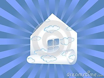 Sky paper house