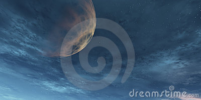 Sky with planet