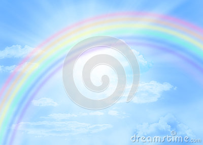 Sky Rainbow Sun Background