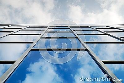 Sky reflection in window
