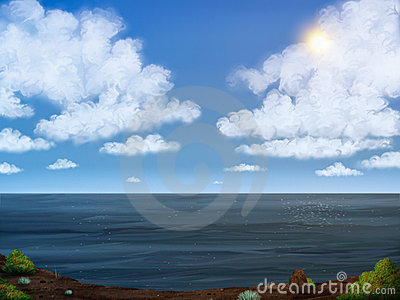 Sky And Sea Digital Painting
