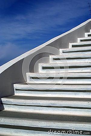 Sky and steps
