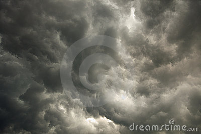 Sky with storm dark clouds