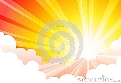 Sky Sun Cloud