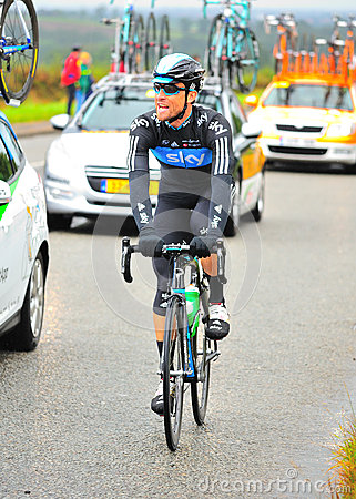 Sky Team Member Tour of Britain Editorial Image
