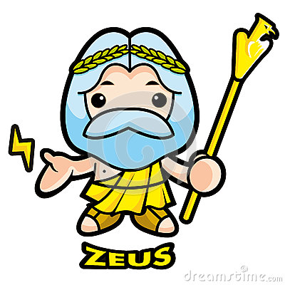 Of sky and thunder god Zeus