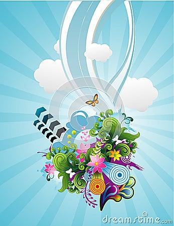 Free Sky Vector Illustration Stock Photo - 11555570
