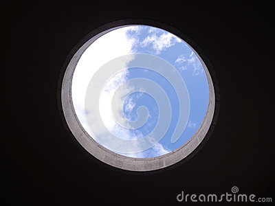 Sky view in a circle