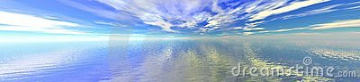 Sky and water horizon