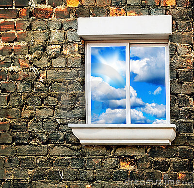 Free Sky Window Royalty Free Stock Photography - 18177317