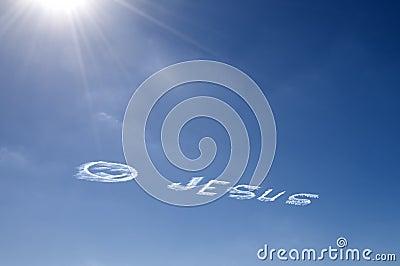 Sky writing Jesus