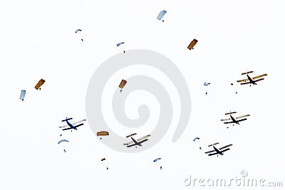 Skydivers. Editorial Photo