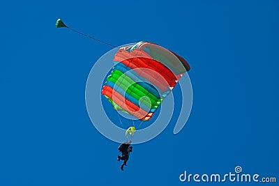 Skydivers tandem