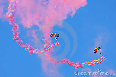 Skydiving Editorial Stock Image