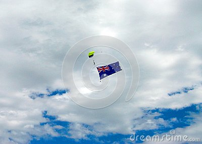 Skydiving with Aussie Flag