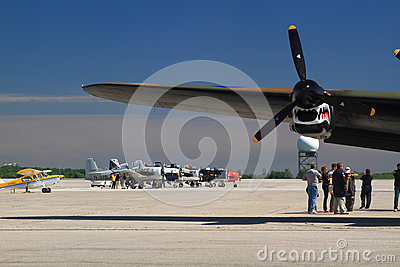 The SkyFest 2014 organized for Fathers Day in progress Editorial Photography