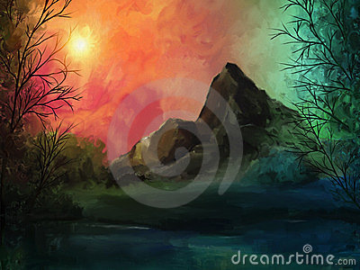Skyfire - Digital Landscape Painting