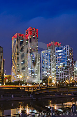 Skyline of Beijing CBD, night view