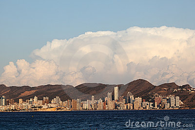 Skyline of Benidorm, Spain