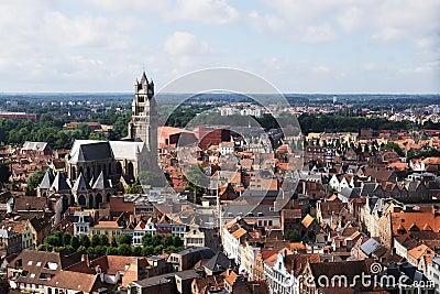 Skyline in Bruges