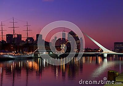 Skyline, Buenos Aires, Argentina. Editorial Photo
